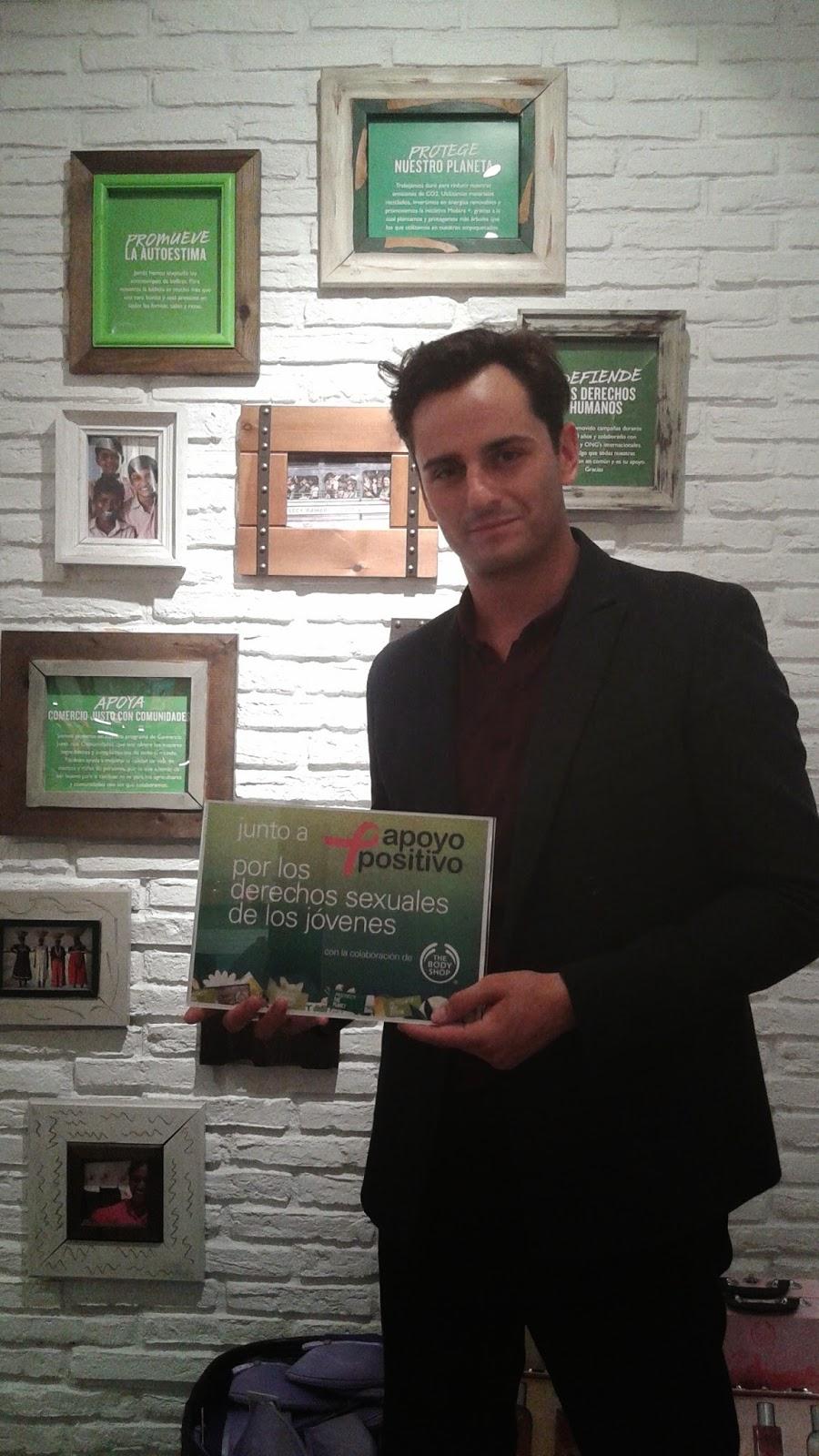 Asier Etxeandía colabora con The Body Shop y Apoyo Positivo
