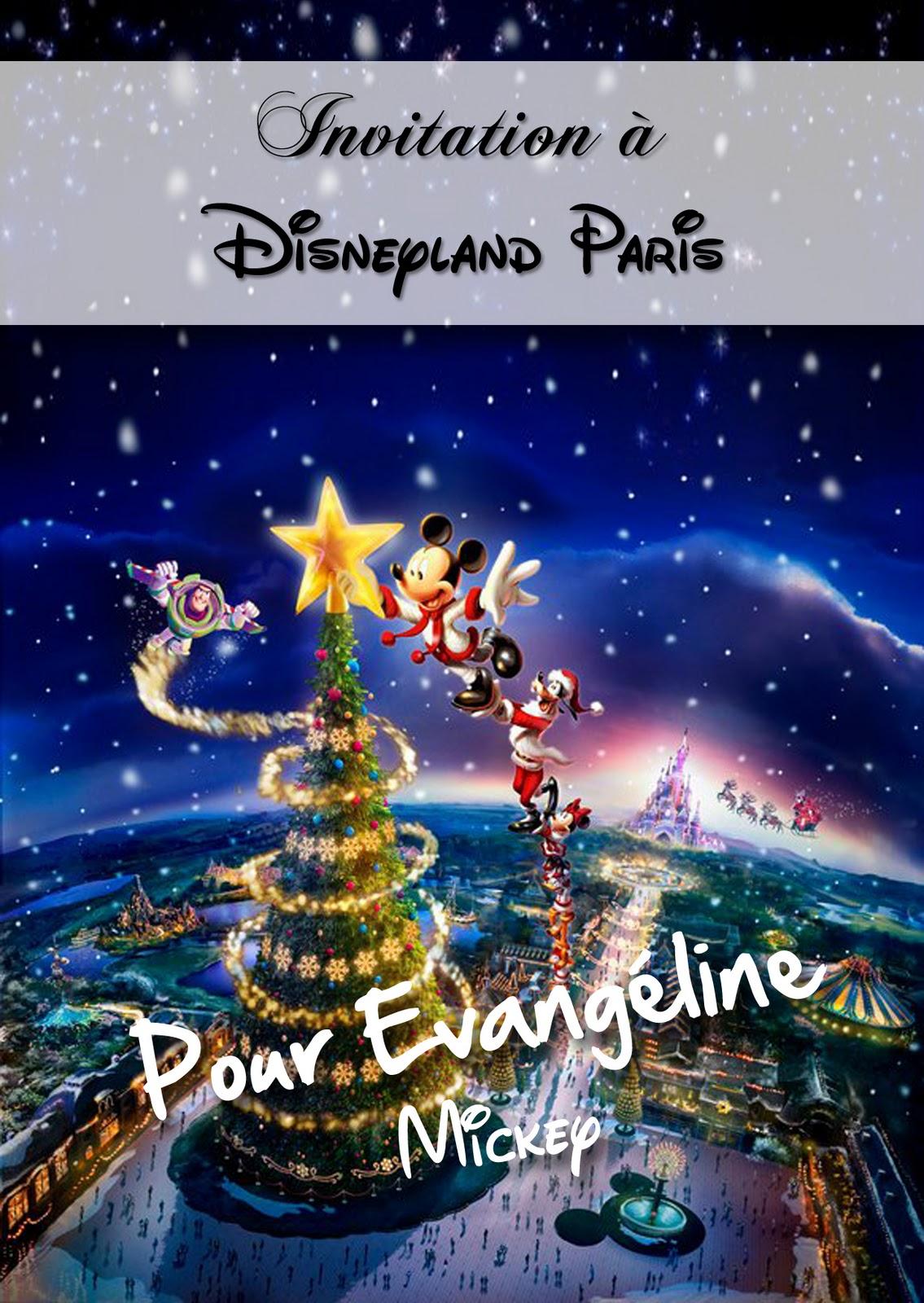 EST Designer: Invitation pour Disneyland Paris
