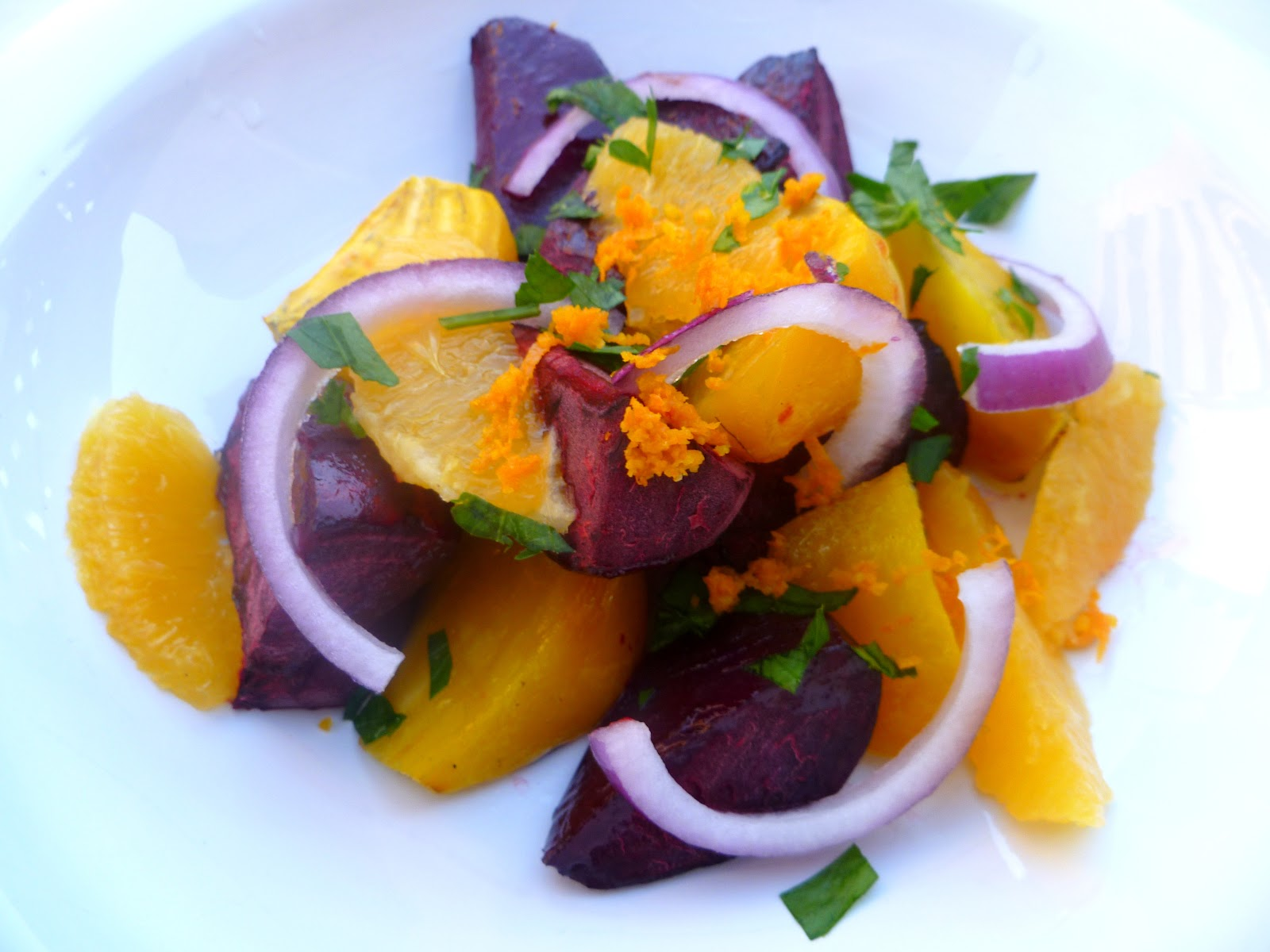 ... Gourmet Student: Red and Golden Beet Salad with Red Onions and Oranges