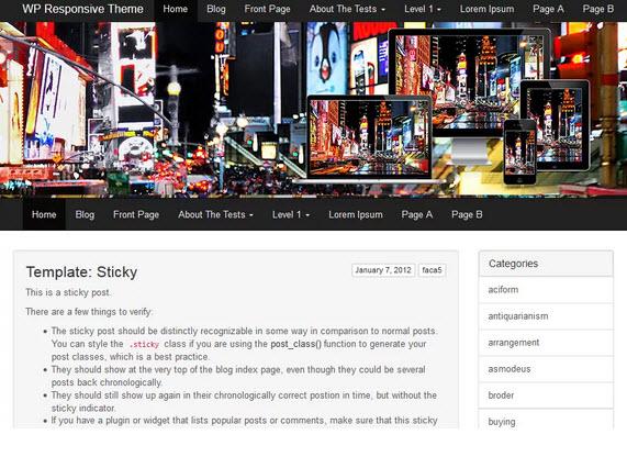 Times Square Wordpress theme