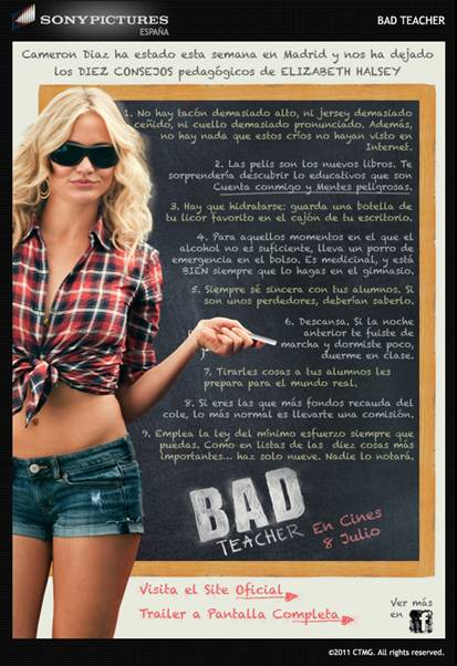 cameron diaz bad teacher car wash. cameron diaz bad teacher car wash. Bad Teacher Spanish Poster