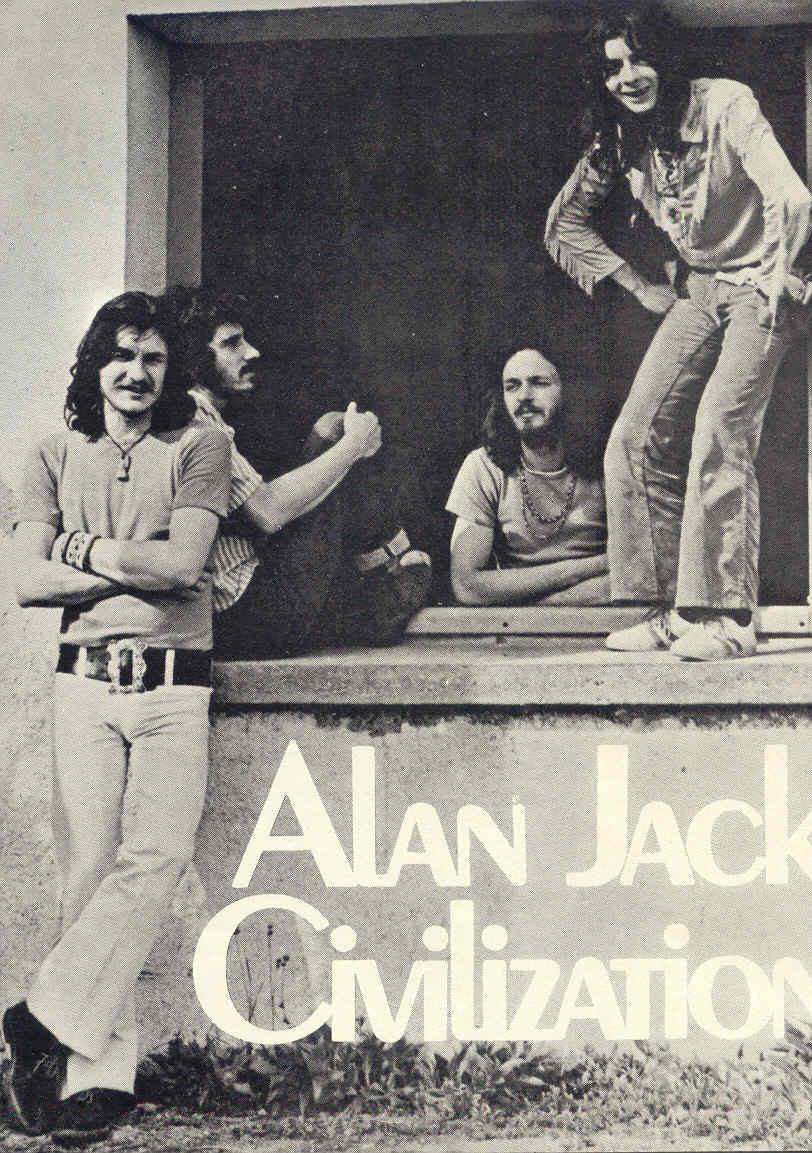 """""""Alan Jack Civilization"""" foi um grupo de blues rock formado na frança em 1969 por """"Alan Jack (Jack Braud), só lançou um único álbum em 1969 pelo selo BYG records, chamado """"Bluesy Mind"""". Esse álbum foi re-lançado em CD em 1997 pelo selo Spalax music. Pouca informação sobre os caras se acha por aí. Lançaram também em 1969 como single as canções """"Shame on You"""" e """"Baby Don't You Come Back Home"""" e seu som é um blues psicodélico com uma pegada bem acid-rock. Guitarra fuzz contrastando com sons aveludados de piano, gaita detonando em algumas faixas e aqueles boogies empolgantes típico das melhores blues-bands do período. A banda participou do cast do """"Amougies Pop and Jazz Festival"""", que rolou em 1969 na Bélgica ao lado de nomes como """"Soft Machine"""", """"Pretty Things"""", """"Colosseum"""" e """"Yes"""". Destaque para a faixa """"Some People"""" and """"The Way to the Hells"""", com um riff rasgado e quente. Infelizmente a banda se desfez em 1970, """"Alan Jack"""" (Jack Braud) também tocou em bandas como, """"Les Gentlemen"""", """"Alan Jack Group"""", """"Zig-Zag"""", """"Alan-Jack Mutation"""", """"Magnum"""", """"Alan Jack And The Nordett's"""" e """"Alan Jack Post-Civilization"""". Porrada na mulera, recomendo."""