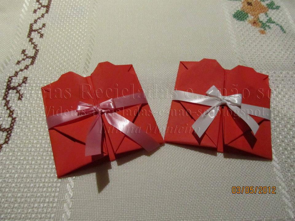 Ideias recicladas e n o s cora o origami - Origami para todos ...