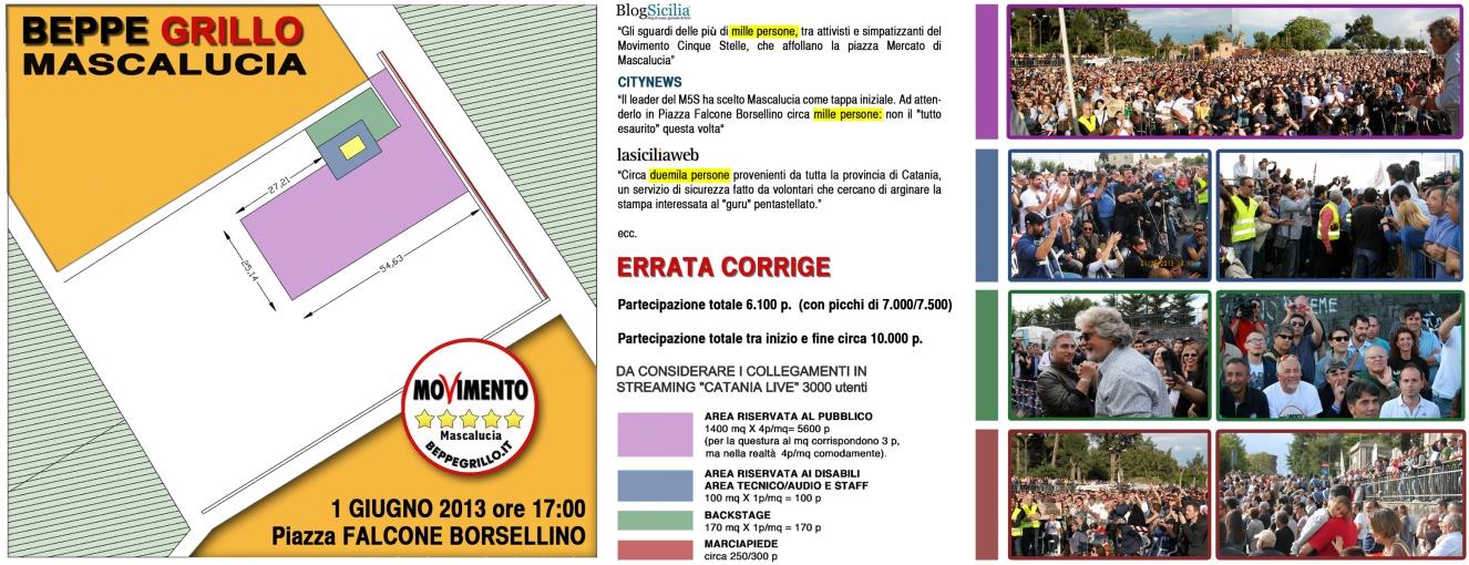 Beppe Grillo - 7000 presenze a Mascalucia (Catania)