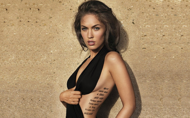 Megan Fox Side Tattoo
