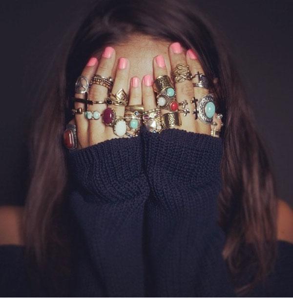Anelismo - mix de aneis coloridos - tendência