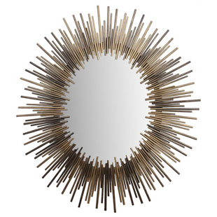 Overstock Oval Gold and Silver Iron Mirror