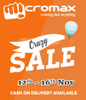 Homeshop18 : Micromax Mobile Sale Offer upto 20% to 60% Off : Buytoearn
