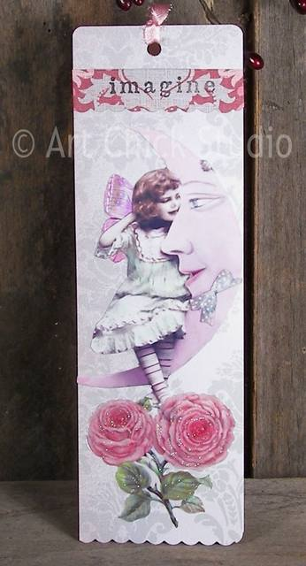 Imagine Altered Art Bookmark
