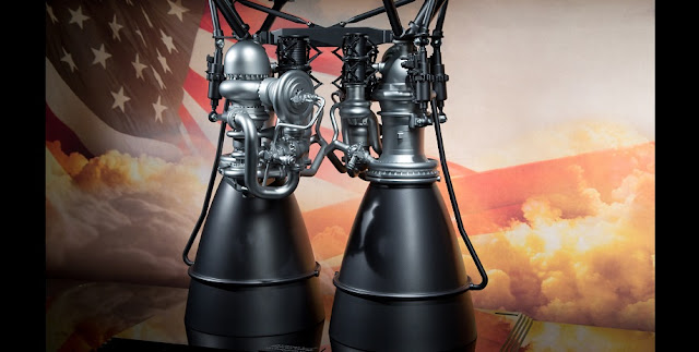 A model of the AR1 engine. Credit: Aerojet Rocketdyne