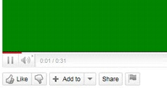 flash player YouTube zeleni ekran