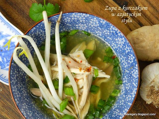 Zupa z kurczakiem w azjatyckim stylu z wolnowara