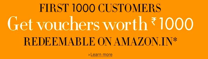 Buy watch and get Rs 1000 voucher of Amazon (EXpired)