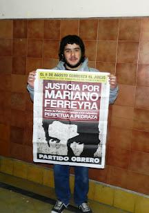 FEDERICO BURGOS, ESTUDIANTE DE HISTORIA Y MILITANTE DE PO-UJS, TAMBIÉN PIDE JUSTICIA X MARIANO