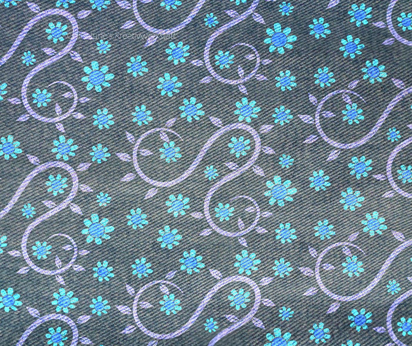 Blumenmuster auf Jeans