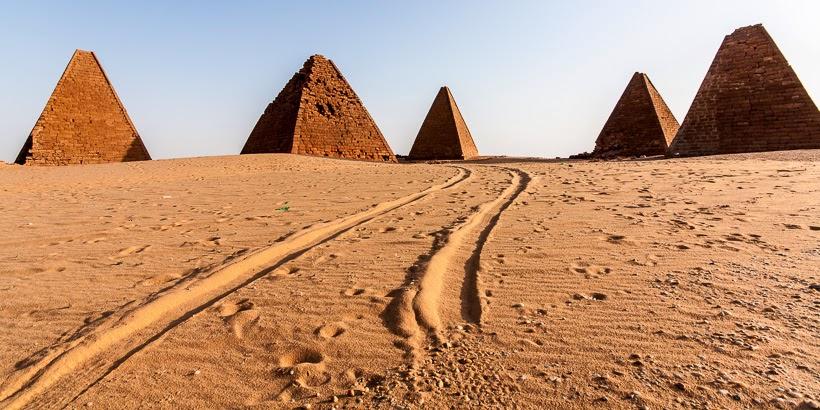 Napatai piramisok. Kerima, Szudán.