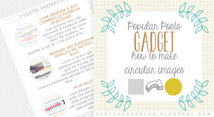 Blog design: immagini dei post popolari circolari