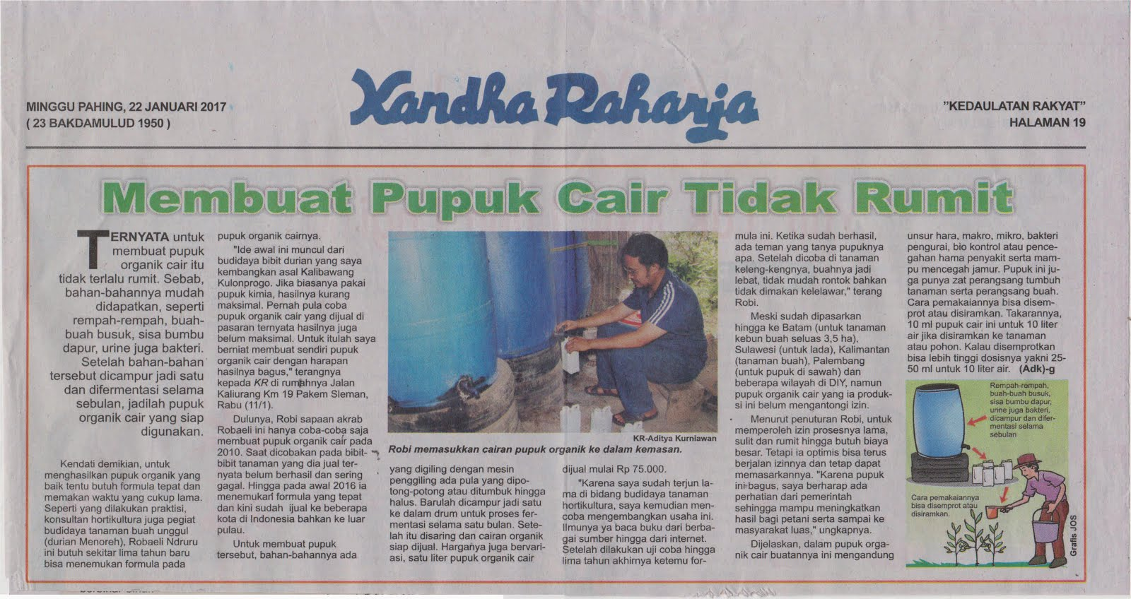 Pupuk Organik Top D'WE Produk MSTech