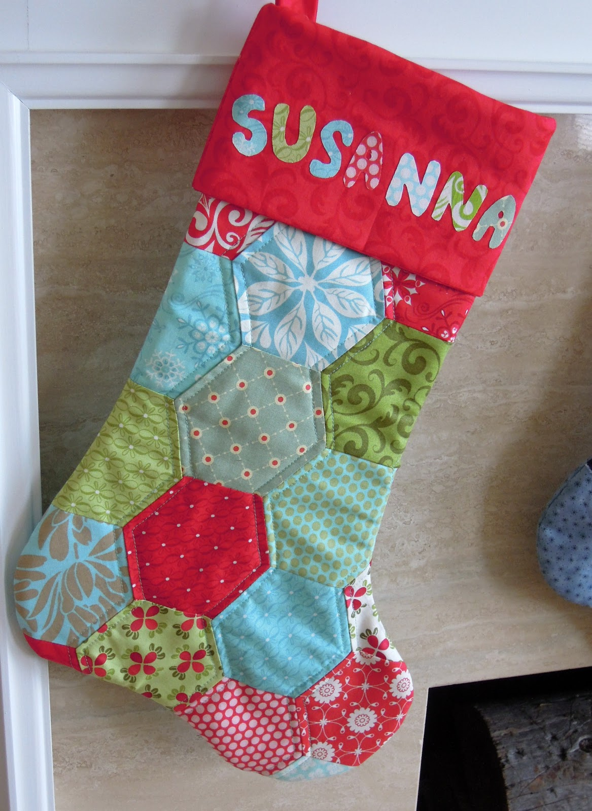 Quilting Barbie Handmade Christmas Stockings