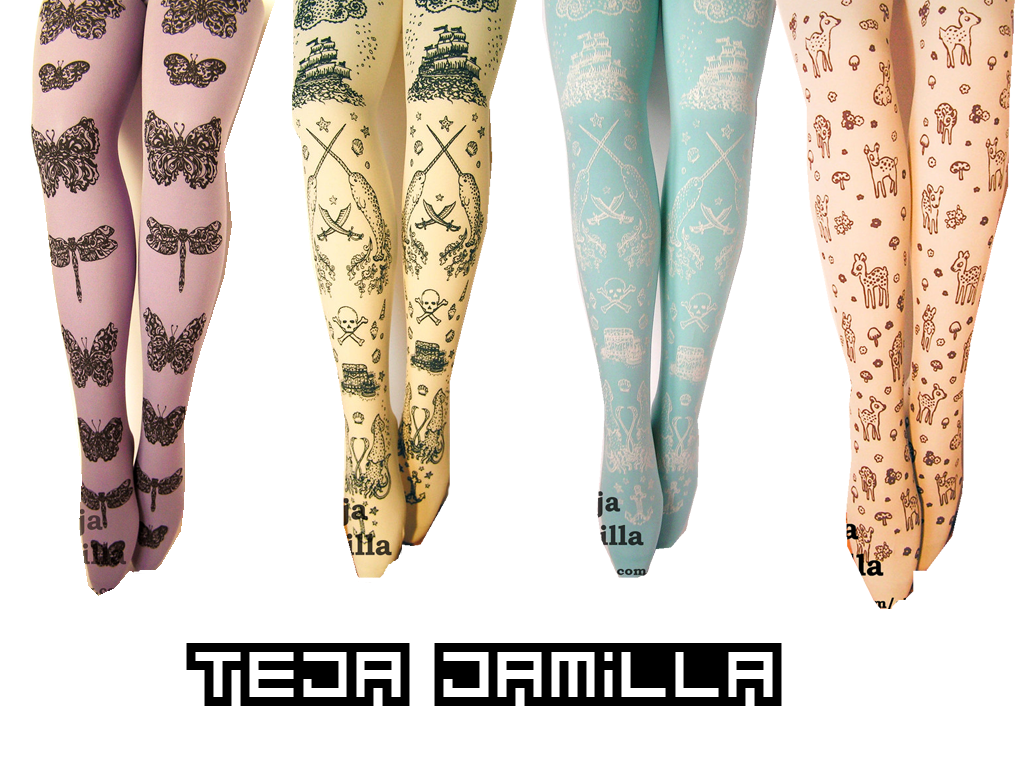 Tights with Designs On Them for Girls