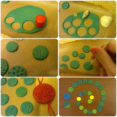 craftypainter: polymer clay buttons