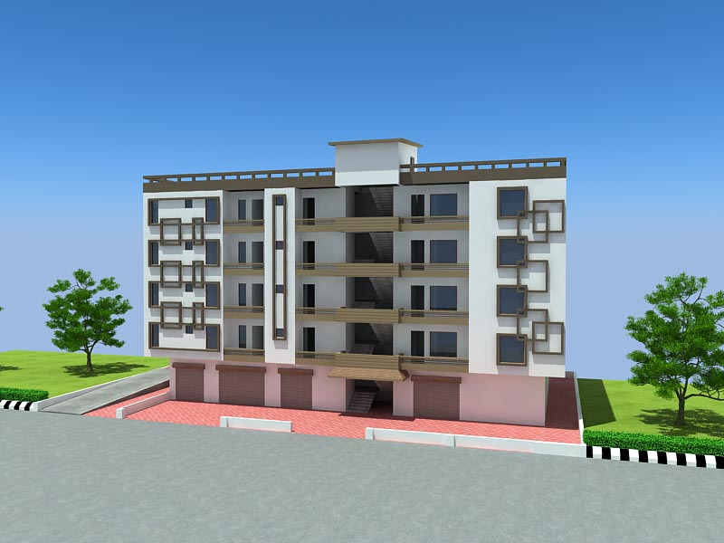 Making animation 3d architectural solution india 3d for Small shop exterior design
