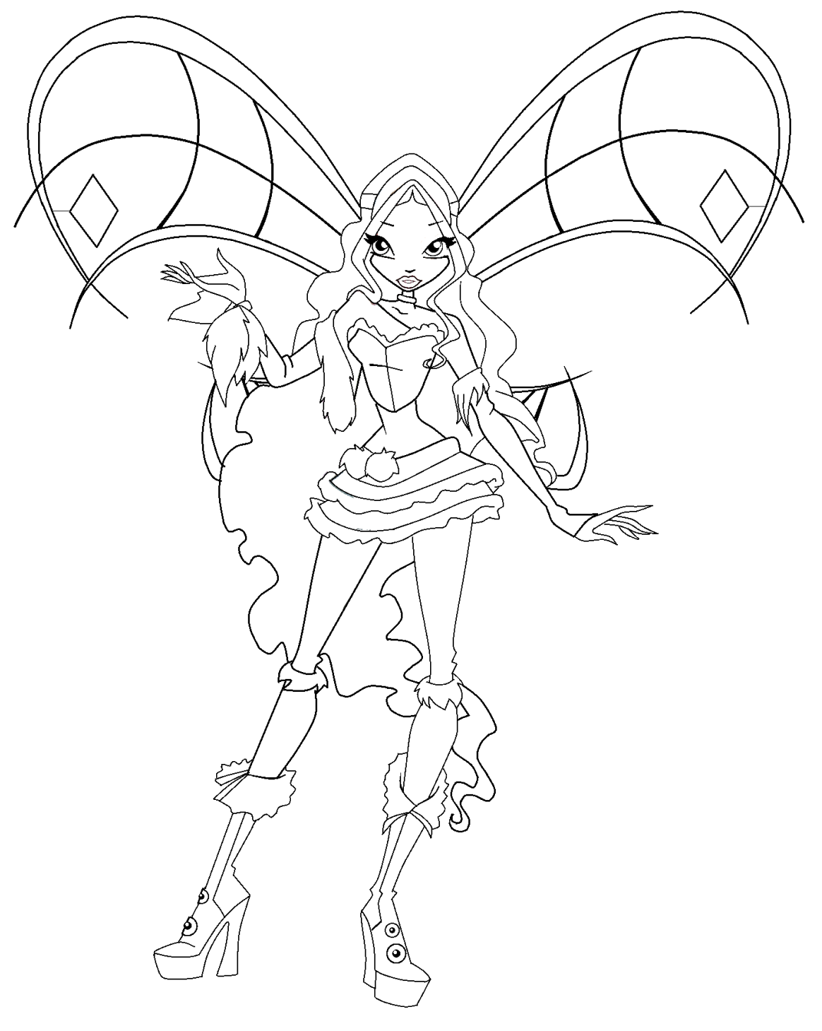 Winx club musa flyrix coloring pages coloriage -  Winx Club Flora20100124192146 Png On Pinterest Tecna Sophix Colouring Pages Page 2 Coloriage