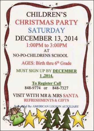 12-1 Sign Up For Christmas Party