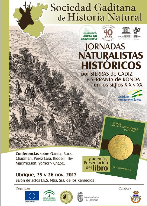 Estuvimos en:Jornadas sobre Naturalistas en la Sª de Grazalema. SGHN. Ubrique 25  Nov.