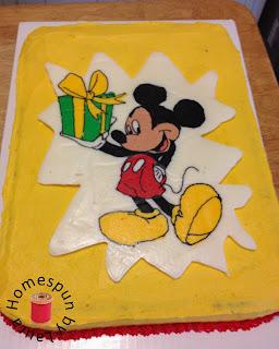 mickey mouse birthday cake frozen buttercream transfer