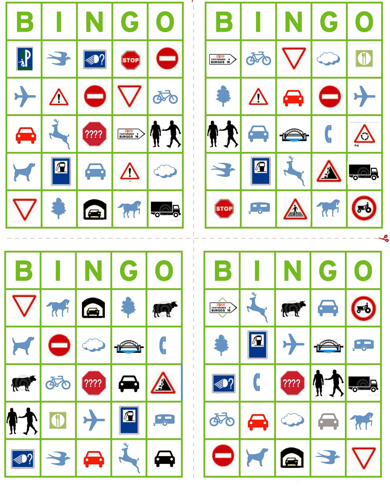 This is a graphic of Agile Car Bingo Cards