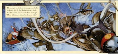 sample page from THE NIGHT BEFORE CHRISTMAS by Bruce Whatley
