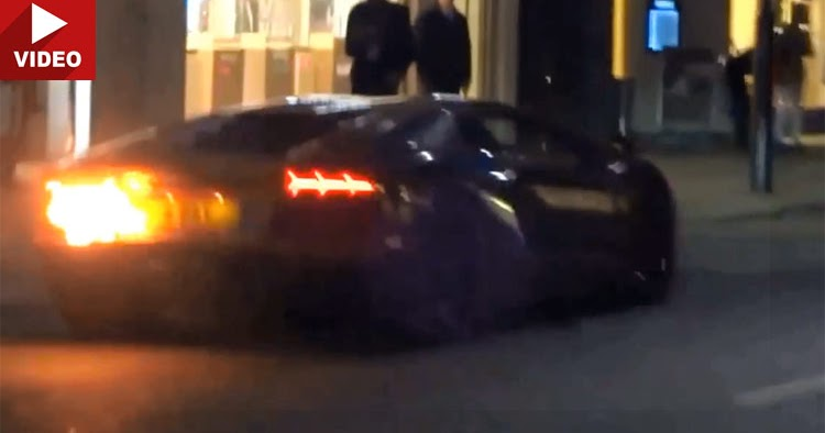 Fire Spitting Lamborghini Aventador Catches On Fire Updated