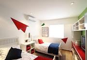 Recámaras para niños y jóvenes con decoración interior moderna