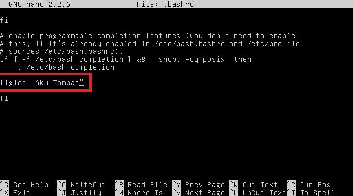 Menghias Terminal Linux dengan Figlet dan Cowsay