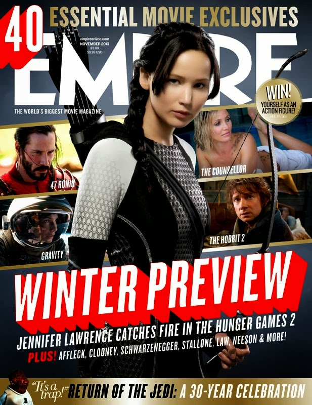 the hunger games france nouvelle photo de katniss en couverture du magazine empire. Black Bedroom Furniture Sets. Home Design Ideas