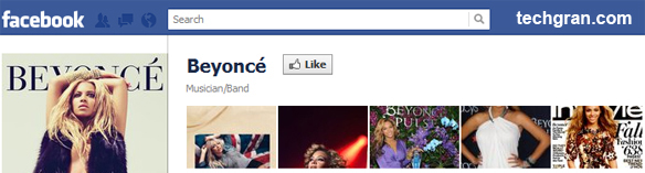 Beyoncé on Facebook, Musician/Band