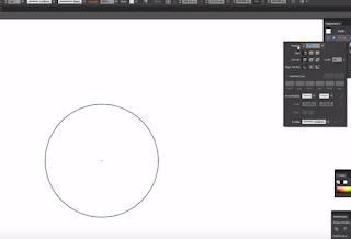 Vẽ hình tròn với công cụ elipse tool
