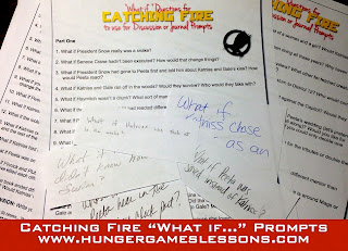 "Catching Fire ""What If..."" Discussion Prompts & Writing Activity"
