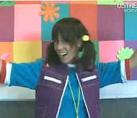 Moon Frye, vestida de Punky en 2009 al alcanzar el millón de seguidores en Twitter
