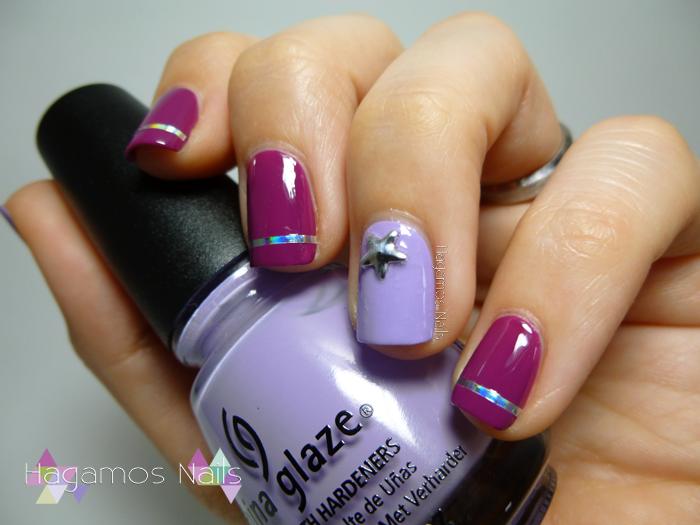 Nail art tonos morados. Juliet Reto Fairy's Tale Nails. Hagamos Nails