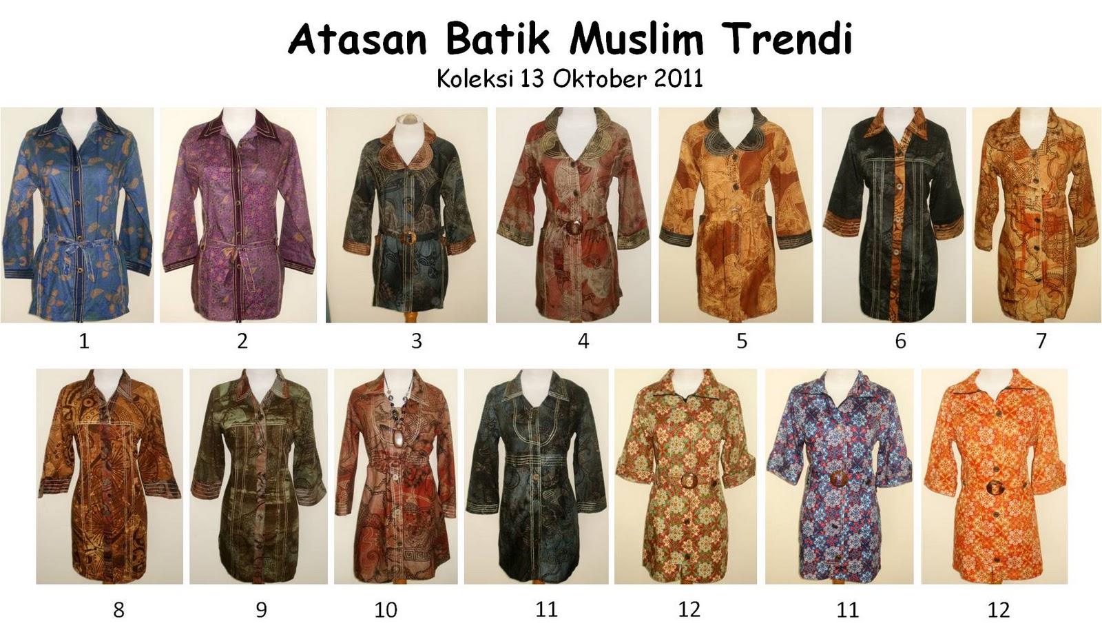 Atasan Batik Muslim Trendi, www balibaju com atasan batik muslim