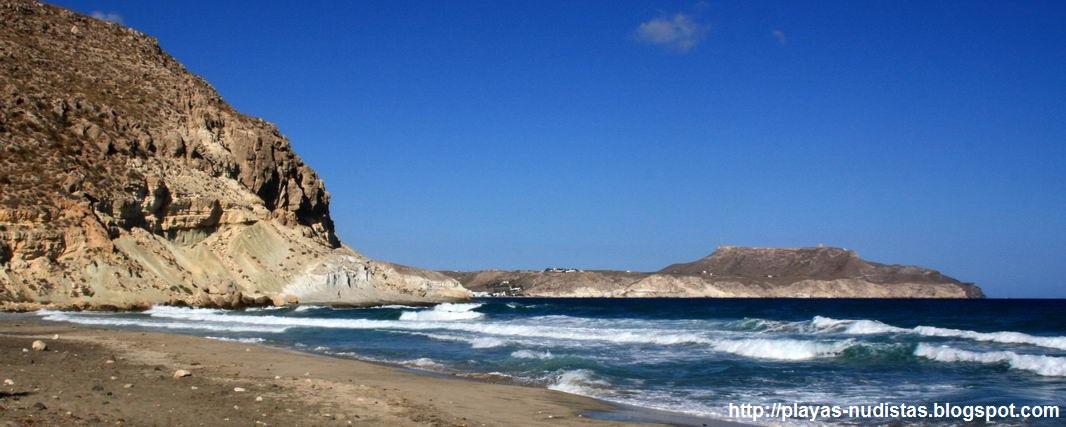 Las Negras desde la Cala del Plomo (Cabo de Gata, Almería)