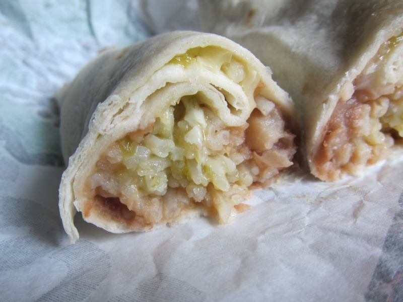 Bean And Cheese Burrito Del Taco The cheese wasn t very spicy