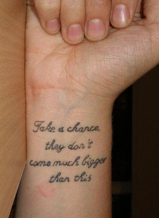 tattoo quotes for men about life. Men Celebrity Tattoo: Tattoo quotes about life is very simple but also
