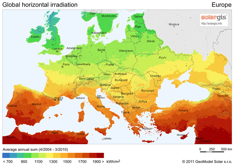 ... Suitable for Your Next Solar Energy Investment - Solar Radiation Map