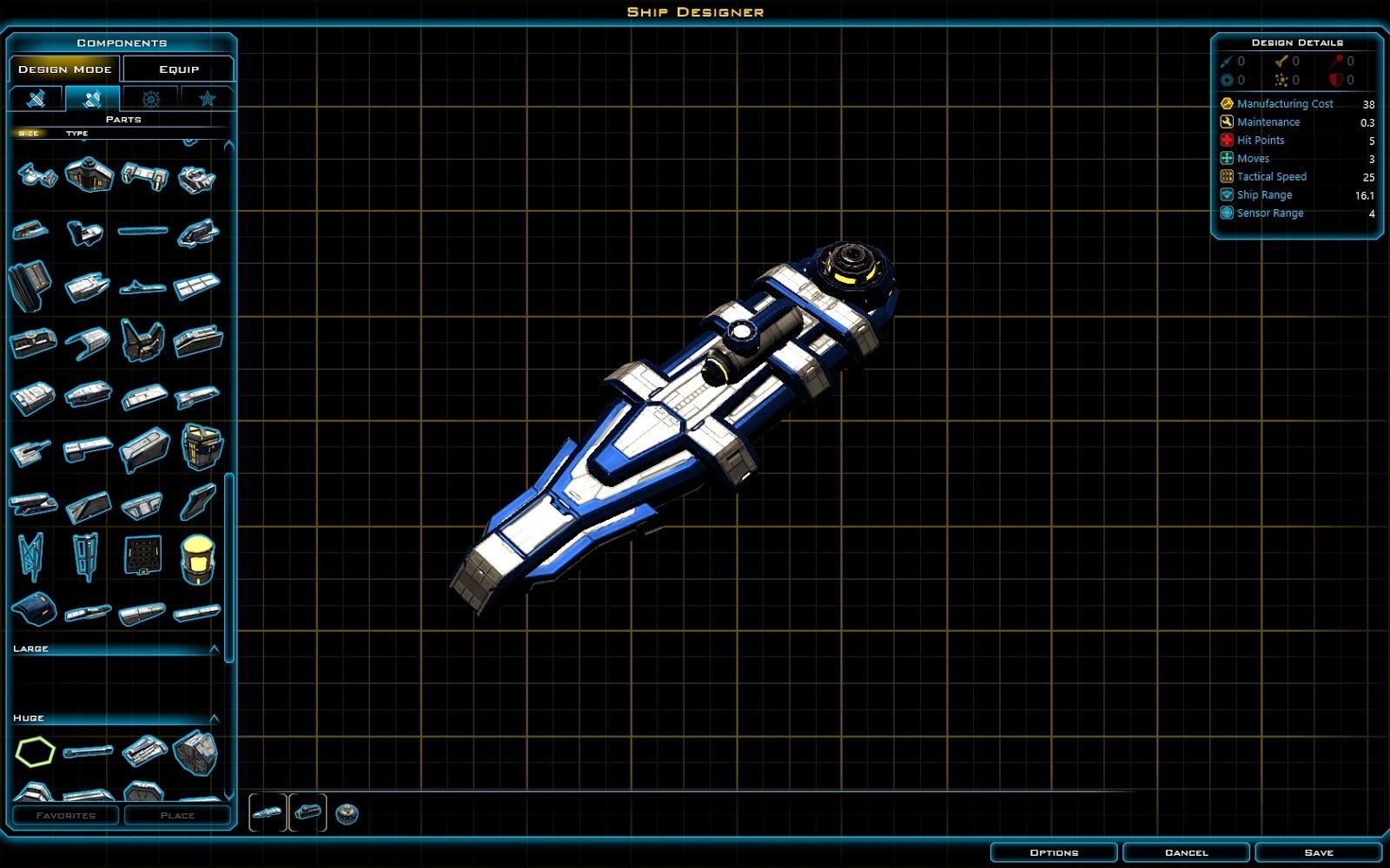 Galactic Civilizations 3 Schiffskonfigurator