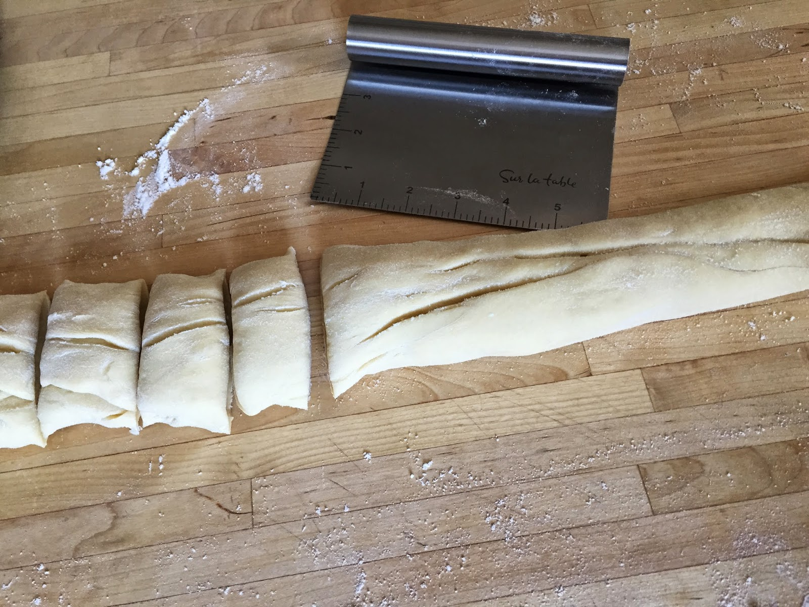 Slice dough into pieces