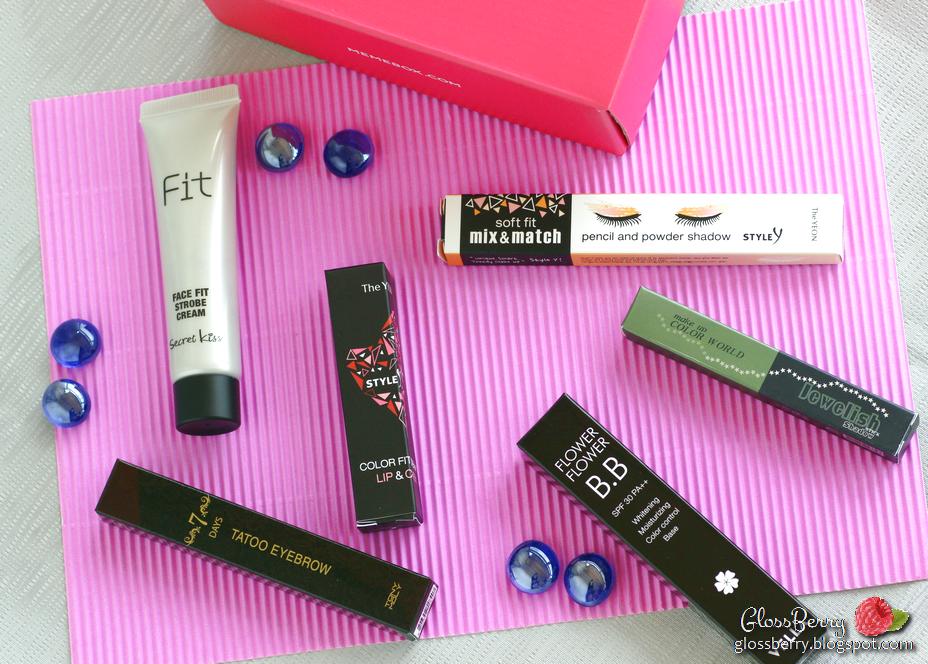 "memebox סקירה מימיבוקס שירות קופסאות הפתעה מחו""ל קופסת מוצרים יופי איפור וטיפוח גלוסברי בלוג איפור וטיפוח glossberry beauty blog special k-pop #3 #43 box memebox review swatches"