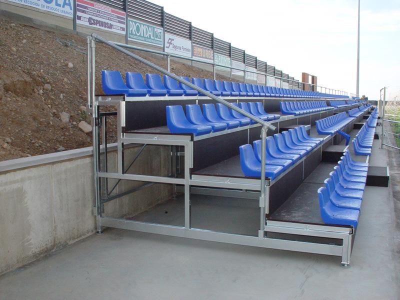 Prodespa industrial gradas y tribunas for Gradas metalicas para interiores